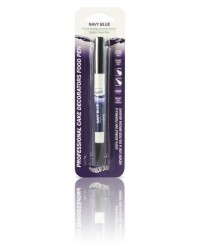 image: Edible marker pen Navy blue Double ended thick & thin