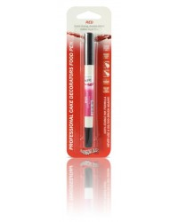 image: Edible marker pen Red Double ended thick & thin