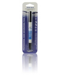 image: Edible marker pen Royal blue Double ended thick & thin