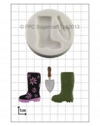 image: Gumboot & Garden Trowel silicone mould