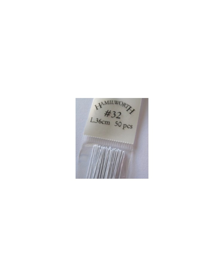 image: 32 gauge wire WHITE (pkt 50)