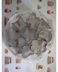 image: Aspic or canape cutters set (mini card suit cutter & more)