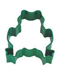 image: Frog green metal cookie cutter