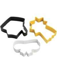 image: Graduation cookie cutter 3 piece set