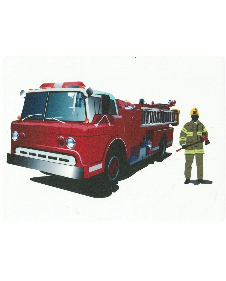 image: Edible Image Fire Engine or Firetruck