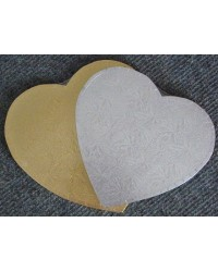 image: 7 inch heart GOLD cake board