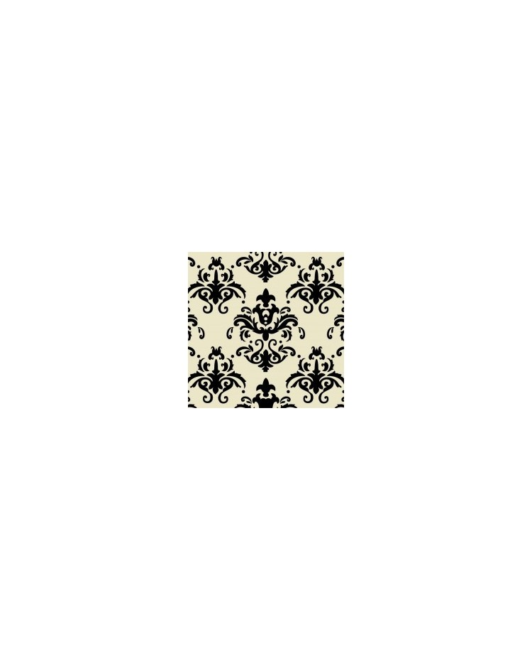 Chocolate Transfer Sheet Damask Black