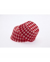image: Gingham RED standard cupcake papers