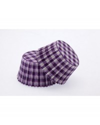 image: Gingham PURPLE standard cupcake papers