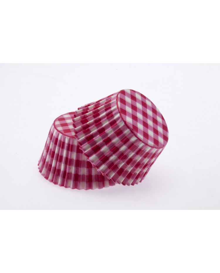 image: Gingham Hot Pink standard cupcake papers