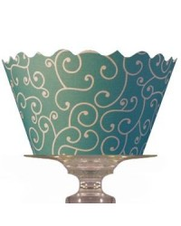 image: Cupcake wrappers Olivia Sea Blue/Green (50)