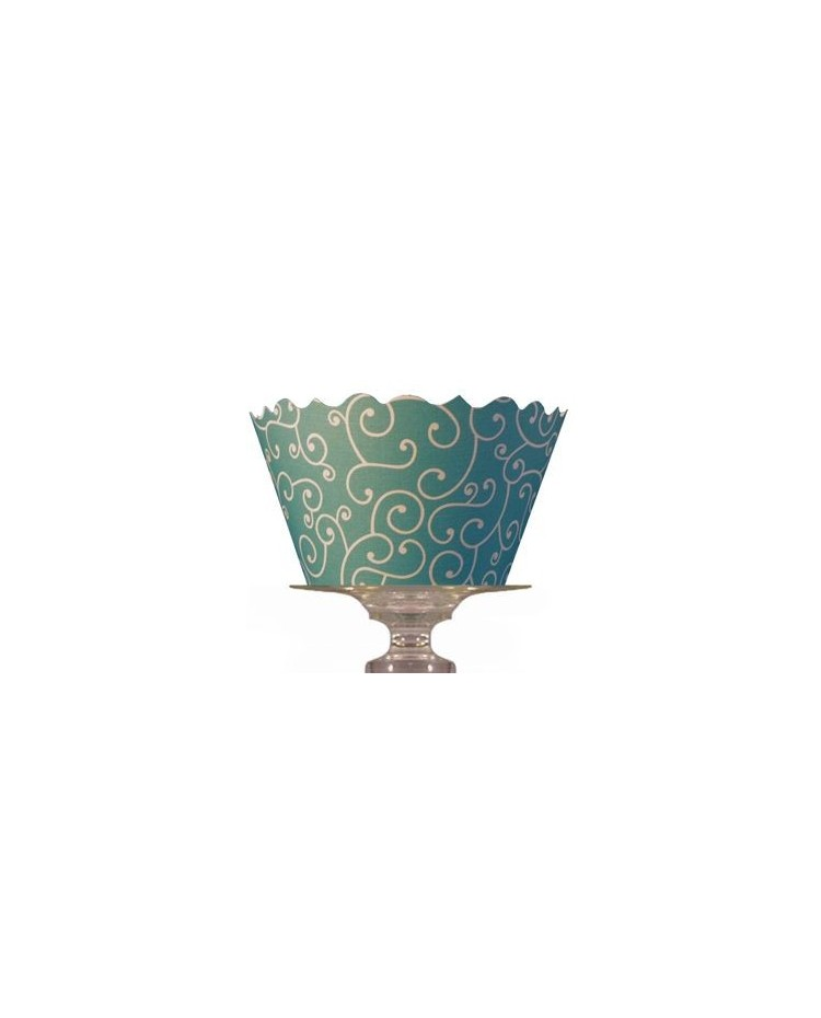 image: Cupcake wrappers Olivia Sea Blue/Green (12)