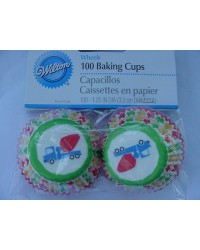 image: Wheels (Cement truck) mini cupcake papers