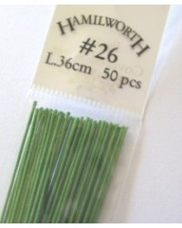 image: 26 gauge wire SPRING GREEN (pkt 50)