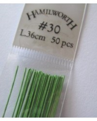 image: 30 gauge wire SPRING GREEN (pkt 50)