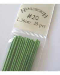 image: 20 gauge wire SPRING GREEN (pkt 25)