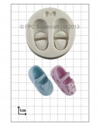 image: Baby Shoes and Bow silicone mould