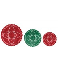 image: Christmas Red & green Doily Doilies asst (12)