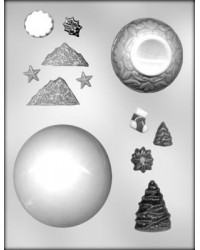 image: 3d panoramic Christmas ornament chocolate mould