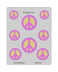 image: Peace sign assortment chocolate mould