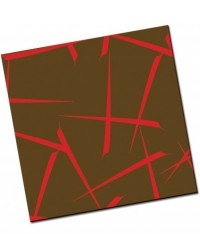 image: Chocolate transfer sheet Kabuki red