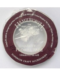 image: Red/Brown Floral Tape 13mm