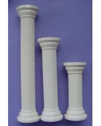 "image: Ivory round pillar 7"" set of 4"