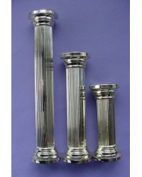 "image: Old gold round pillar 7"" set of 4"