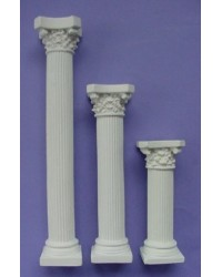 "image: Corinthian plaster pillars 7"" set of 4"