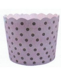 image: Patisserie cake or cupcake papers silver dotty