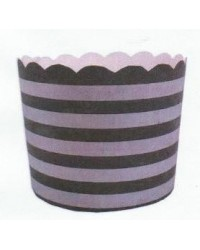 image: Patisserie cake or cupcake papers silver & black stripes