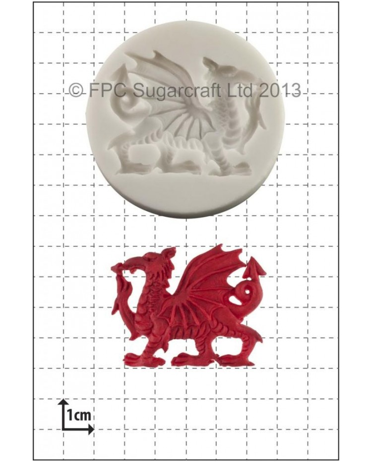 image: Welsh Dragon silicone mould