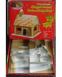 image: Gingerbread house kit with Christmas tree
