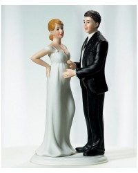 image: Bride & Groom cake topper Expecting