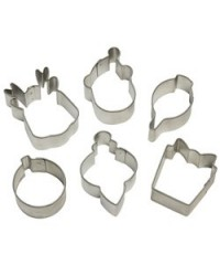 image: Mini set 6 christmas cookie cutters (Wilton) #1