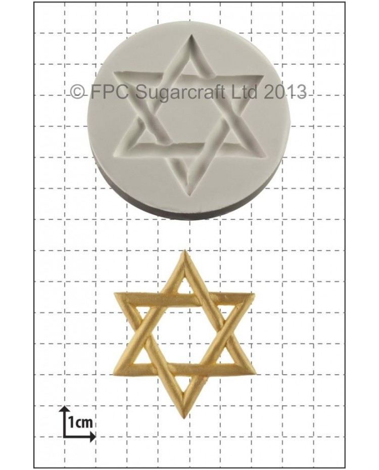 image: Star of David silicone mould