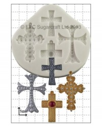 image: Crosses (cake jewellery) silicone mould