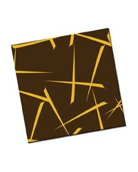 image: Chocolate transfer sheet Kabuki gold