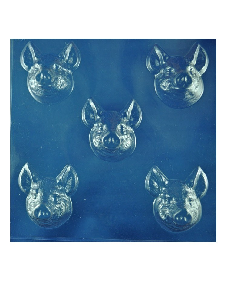 image: Pig or boar pigs head chocolate mould
