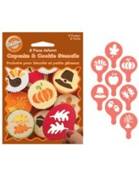 image: Autumn cupcake and cookie stencils