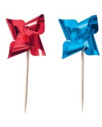 image: Red & Blue pinwheel cupcake picks (12)