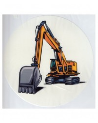 image: Edible Image - construction vehicle digger