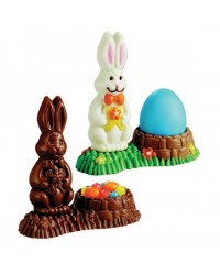 image: Easter bunny egg stand chocolate mould