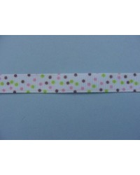 image: Sprinkles chocolate grosgrain satin ribbon 9mm x 10m