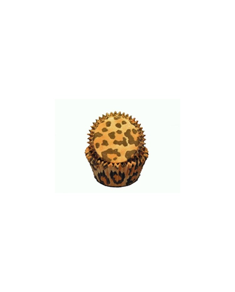 image: Leopard print MINI baking cups cupcake papers