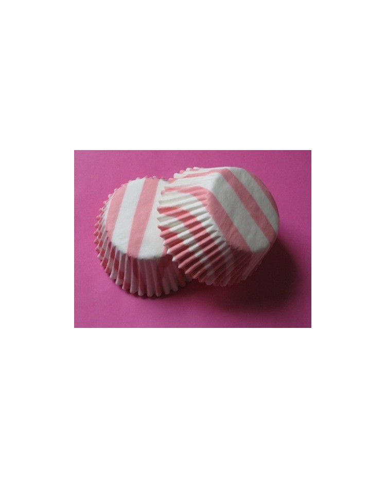 image: Zebra stripe (Pink & white) MINI cupcake papers