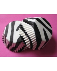 image: Zebra stripe (Black & white) mini cupcake papers
