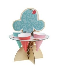 image: Ice cream sundae toppings stand kit