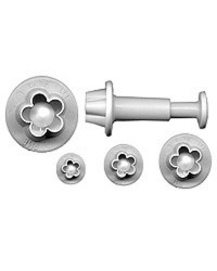 image: Set 4 blossom plunger ejector cutters