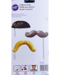 image: Moustache or Mustache lollipop chocolate mould Wilton
